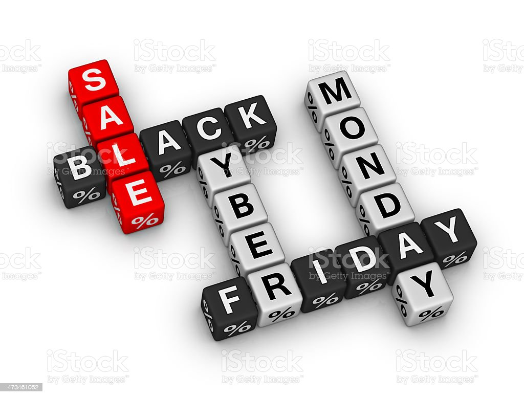 black friday and cyber monday sake sign stock photo