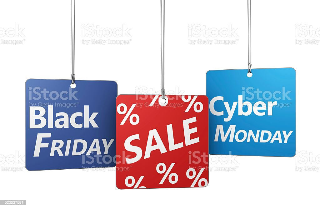 Black Friday And Cyber Monday Sale stock photo