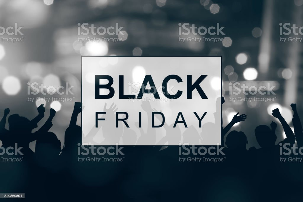 Black Friday announcement stock photo