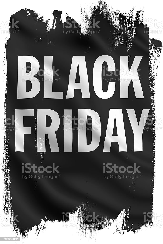 Black Friday Artwork stock photo