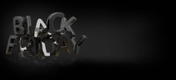 Schwarzen Sie Freitag Hintergrund Symbol 3D-Rendering – Foto