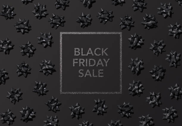Black Friday Banner Holiday - Event, Black friday, Box - Container, Tied Bow, Web banner black friday sale background stock pictures, royalty-free photos & images