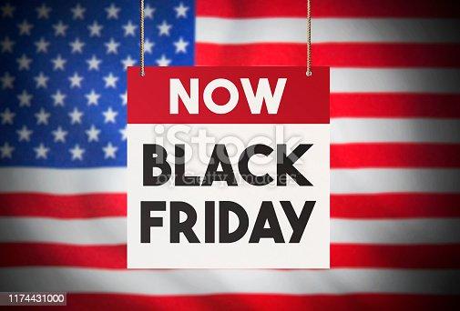 1136804881 istock photo Black Friday in America Stock Image 1174431000