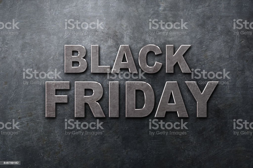 Black Friday in the streets of the city - foto stock