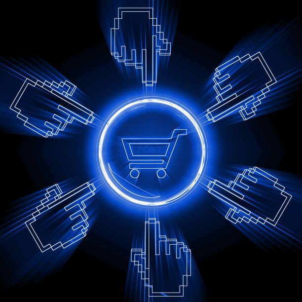 Vendredi noir internet shopping site e-commerce - Photo