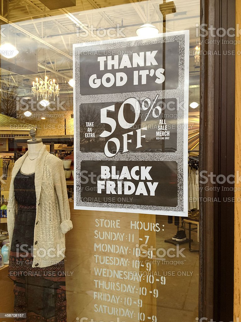 Black Friday is coming - sale event at Urban Outfitters royalty-free stock photo
