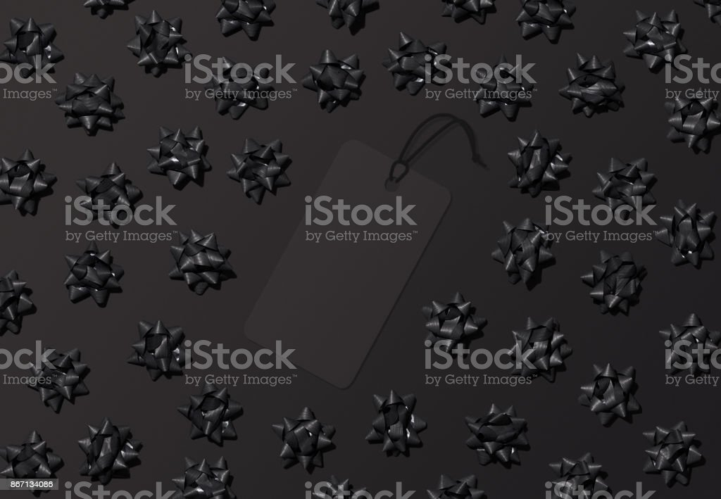 Black Friday label background for promotion or sale mockups stock photo