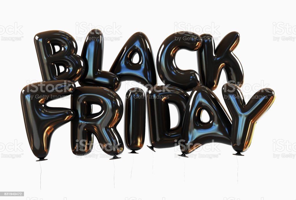 Black Friday Made Of Black Helium Balloons stock photo
