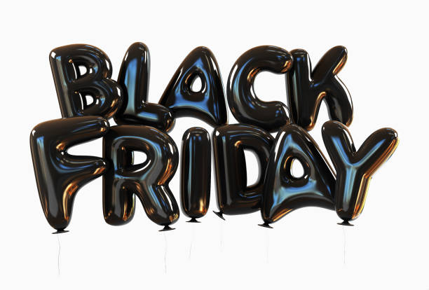 vendredi fait des ballons d'hélium noir noir - black friday photos et images de collection