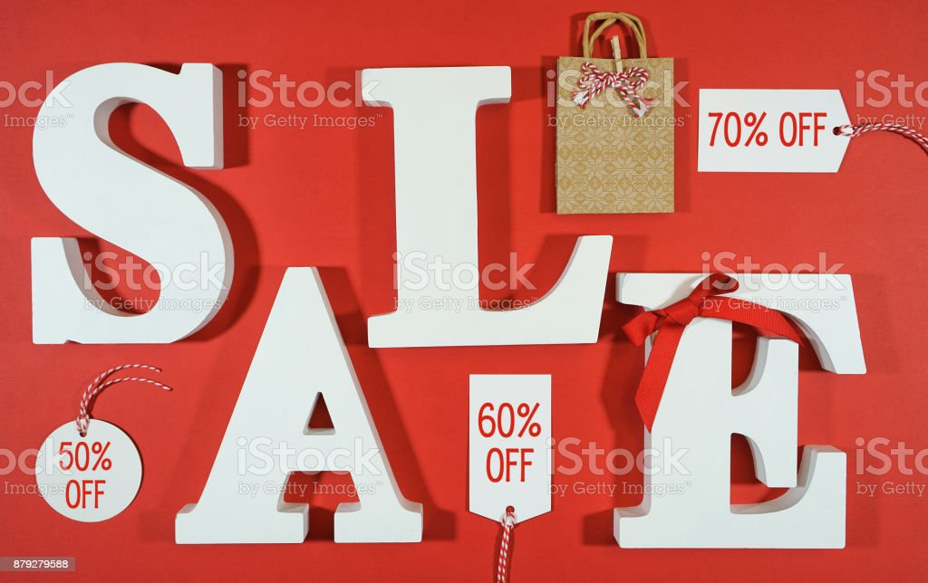 Black Friday or retail sales promotion concept stock photo