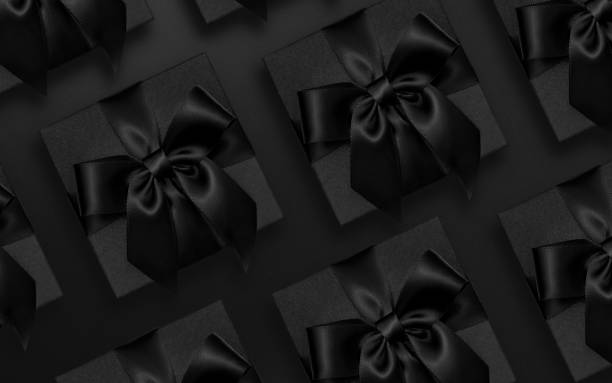 Black Friday presents flat lay Black color, friday, gift box, males, copy space, backgrounds black friday stock pictures, royalty-free photos & images