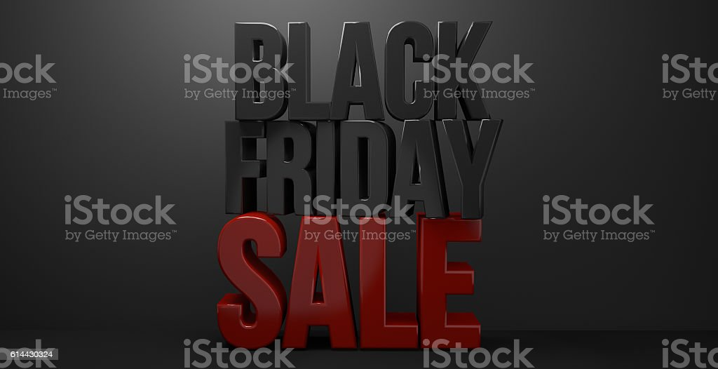 black friday sale 3d render graphic – Foto