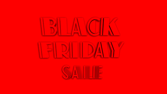 istock Black Friday Sale 3D text, 1073648192