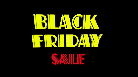 istock Black Friday Sale 3D text, 1073648240