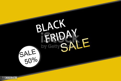 istock Black friday sale. Banner 1136606479