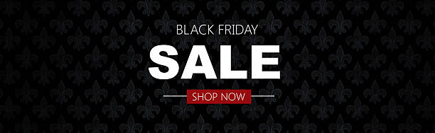 Black friday sale deals web banner stock photo