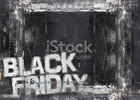 istock Black friday sale grunge template 1047502582