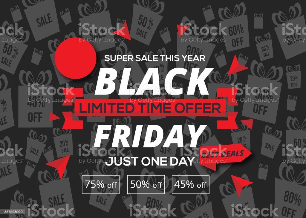 Black friday sale inscription design template. Black friday banner stock photo