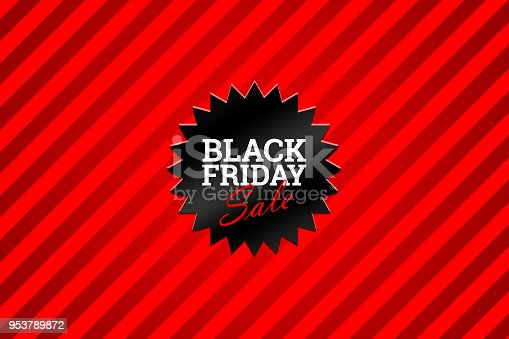 istock Black Friday sale inscription design template. Black Friday poster and banner. 953789872