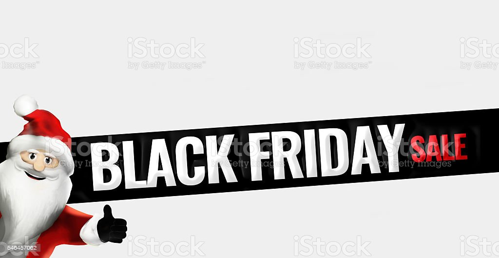 Black Friday Sale Promotion Display Design Bold Font Stock