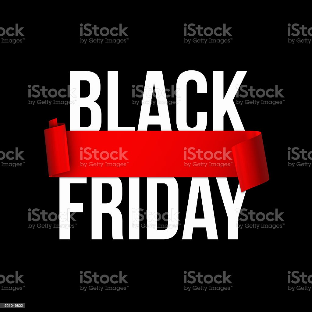 Black friday sales banner stock photo