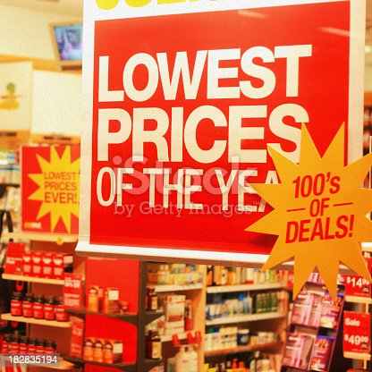 Concept photo for excessive retail discounting and desperation.