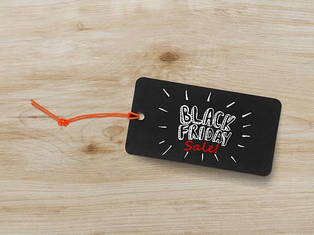 Black friday tag stock photo