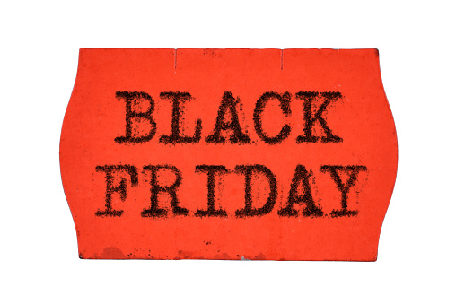 Black Friday Words On Price Tag Isolated On White Background Stock Photo Download Image Now Istock