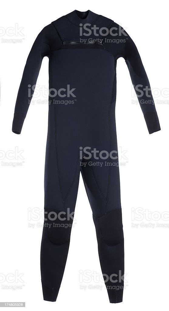 Black Full Wetsuit Isolated on White stock photo