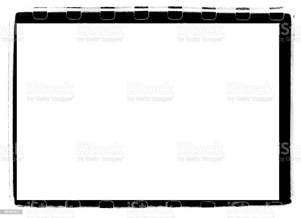 Black Full-Frame border from 35mm film royalty-free stock photo