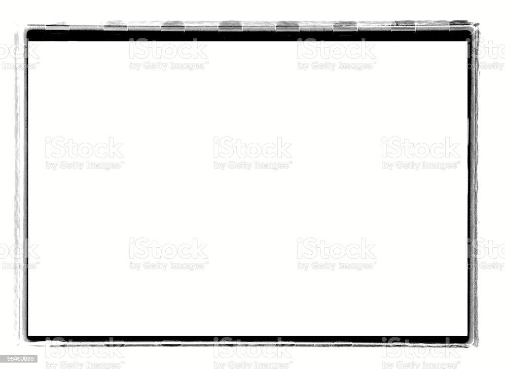 Black Full-Frame border from 35mm film #3 royalty-free stock photo