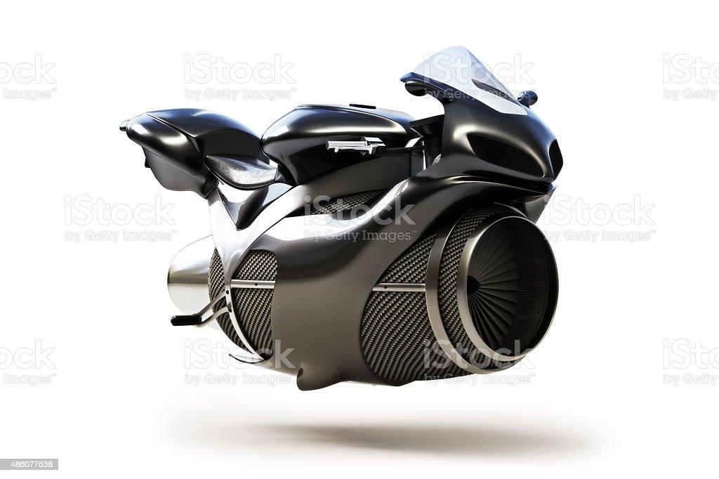 Preto futurista Motor a Jato conceito de bicicleta - Royalty-free 2015 Foto de stock