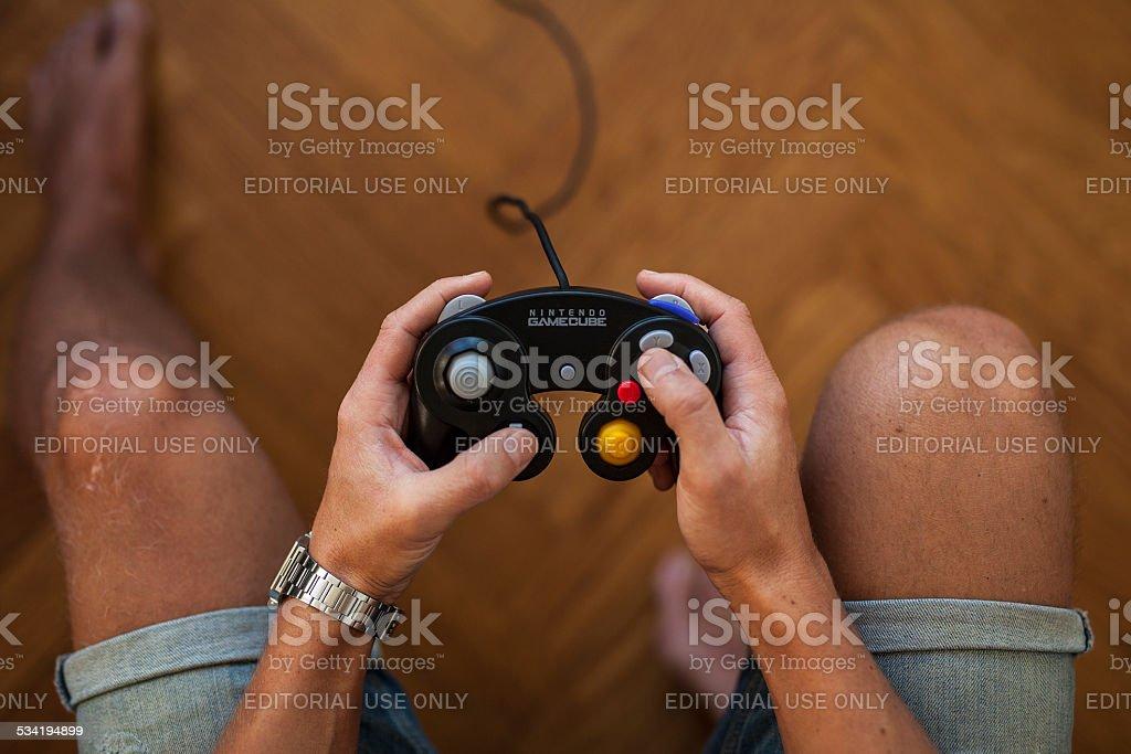 Black GameCube Controller - Nintendo stock photo