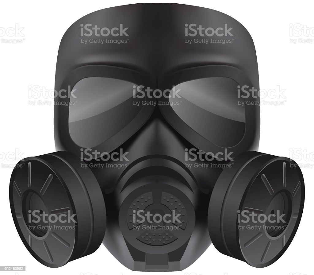 Black gas mask – Foto