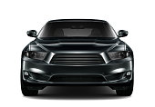 istock Black generic car - front view 502552076