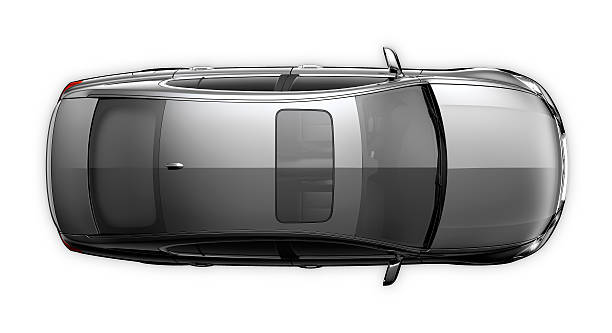 black generic car - top view - on top of stock photos and pictures