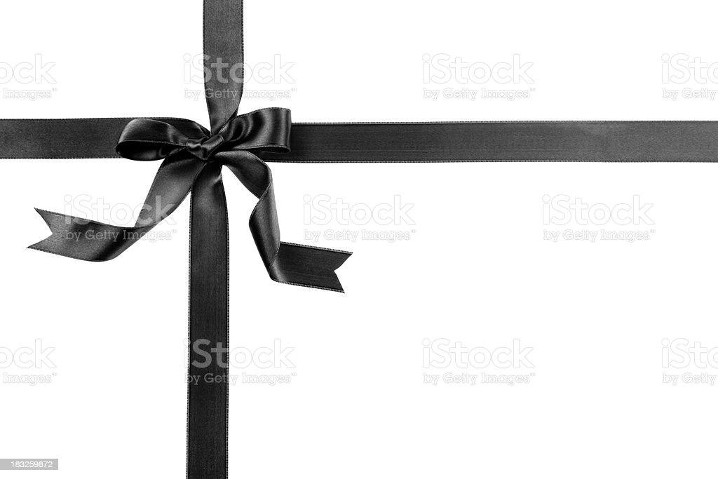Black gift bow stock photo