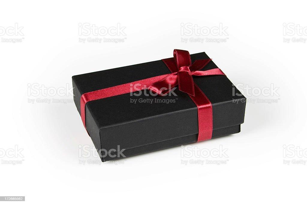 Black Gift Box stock photo