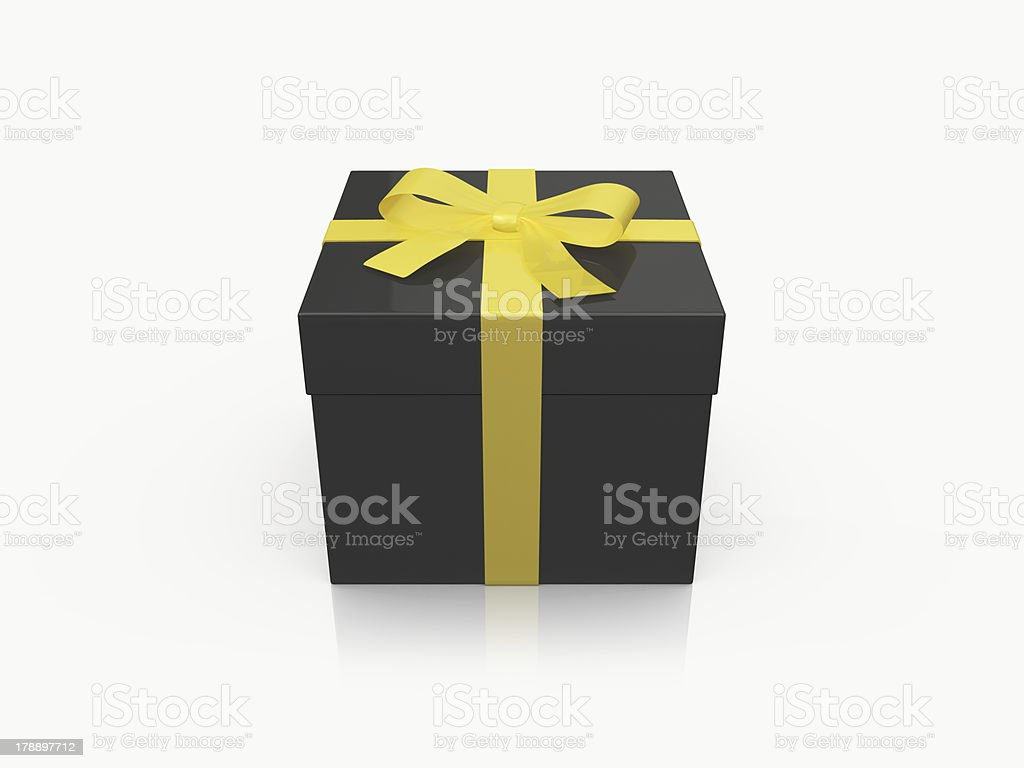 Black Gift Box royalty-free stock photo
