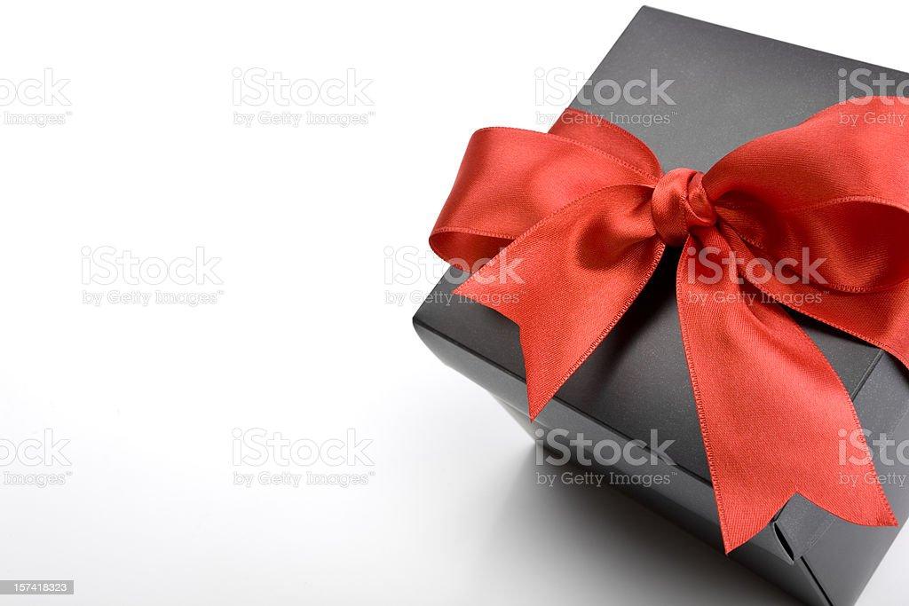 Black Gift Box Series royalty-free stock photo