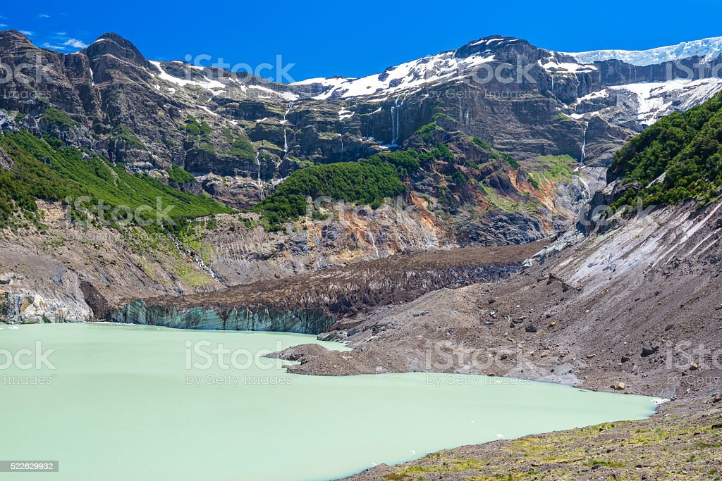 Black glacier, Nahuel Huapi National Park (Argentina) stock photo