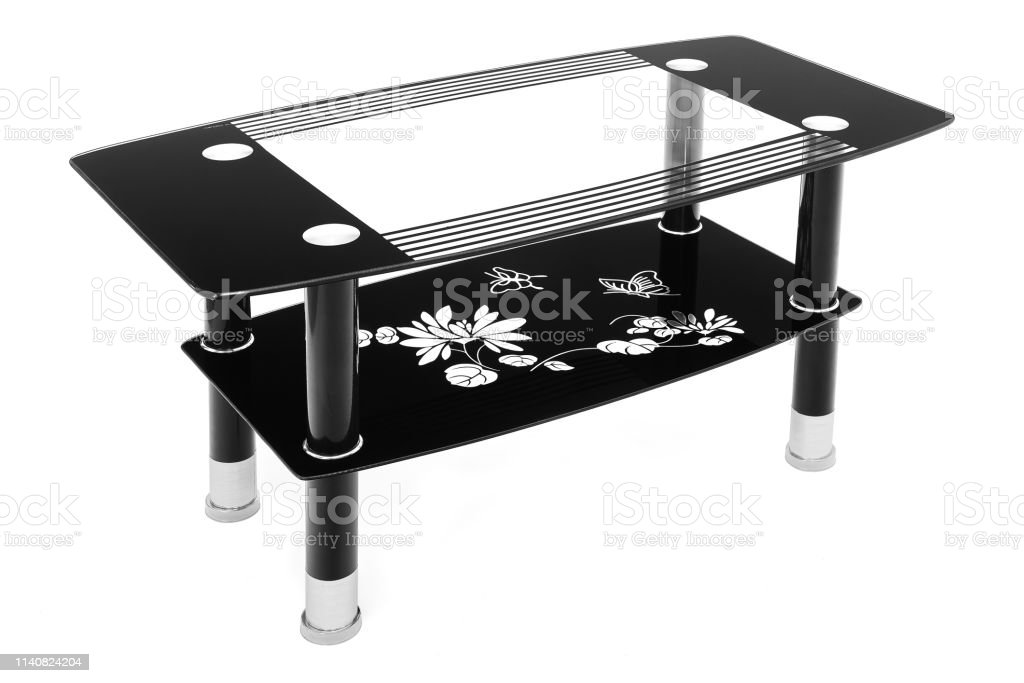 Photo Libre De Droit De Table Basse En Verre Noir Et