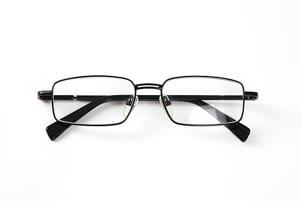 Black Glasses Front stock photo