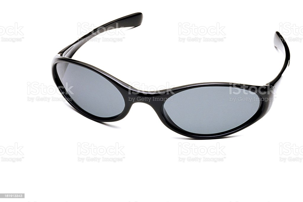 Black glasses over white background royalty-free stock photo