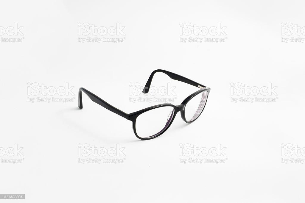 Black glasses - side stock photo
