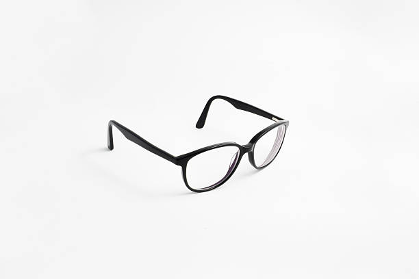 Black glasses - side stock photo