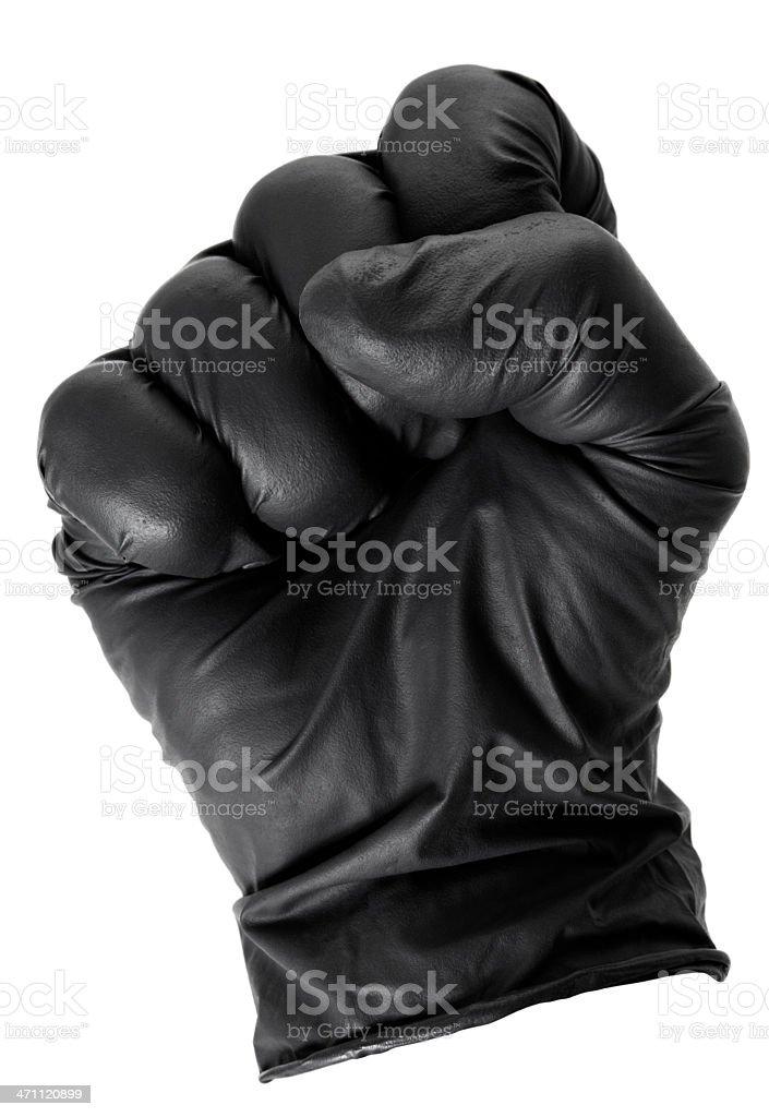 Black Glove Fist stock photo