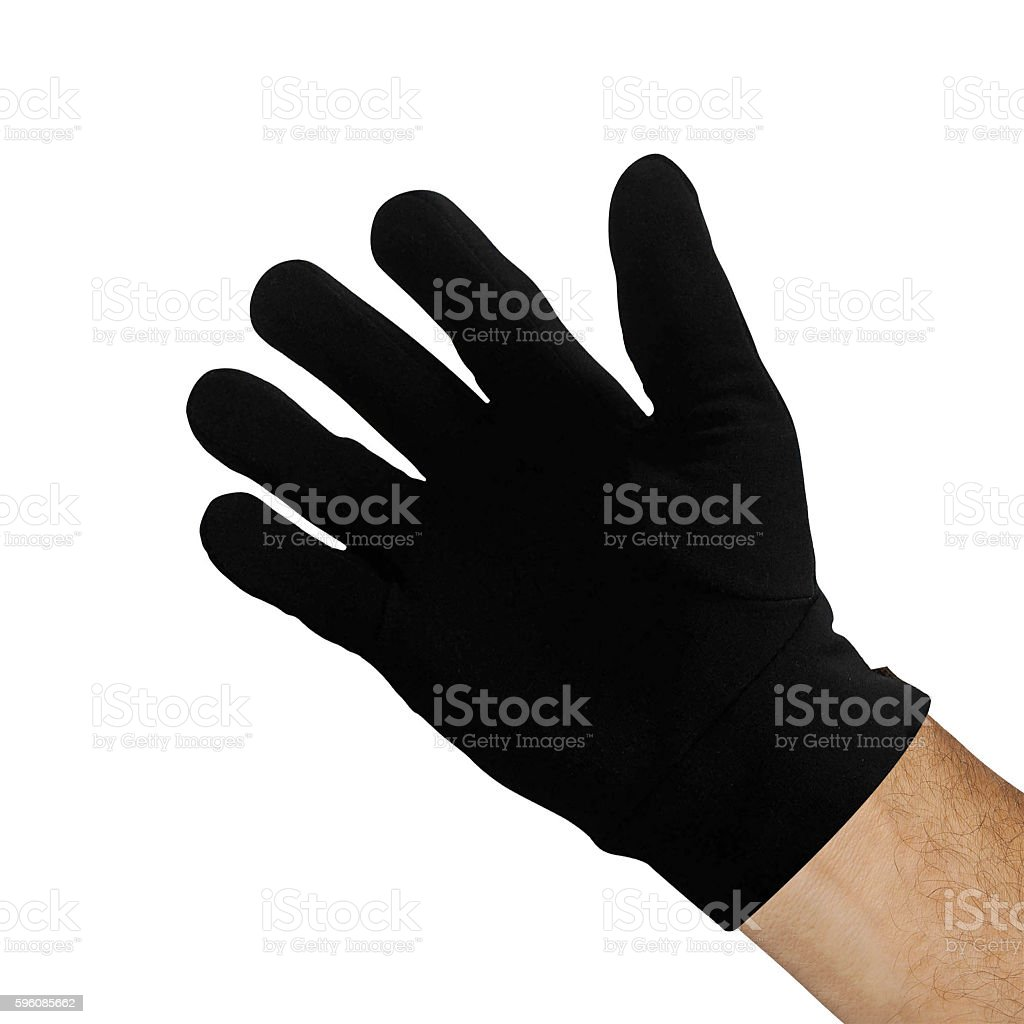 black glove isolated royalty-free stock photo