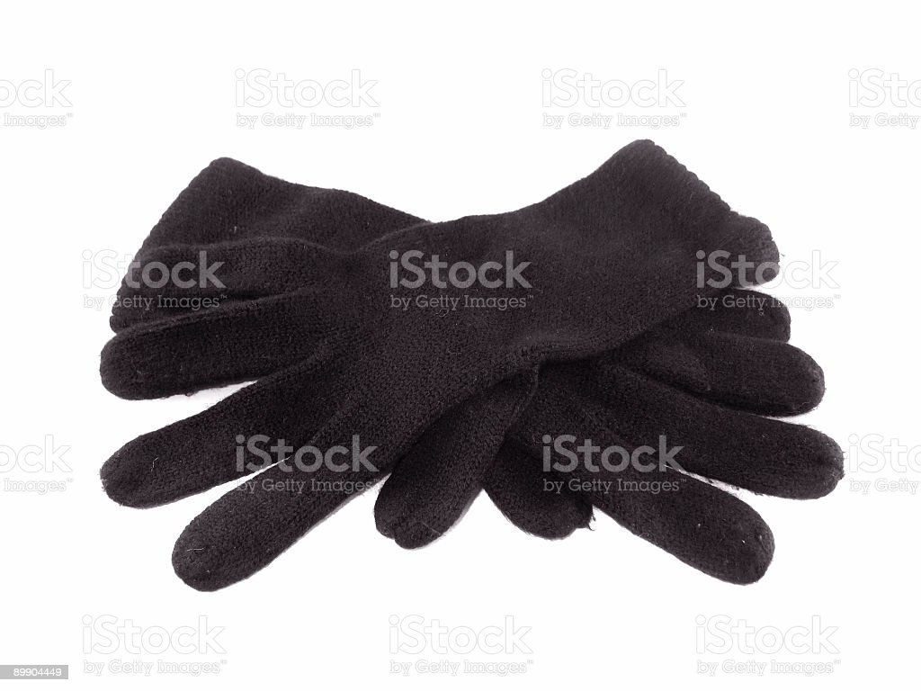 Black Gloves royalty-free stock photo