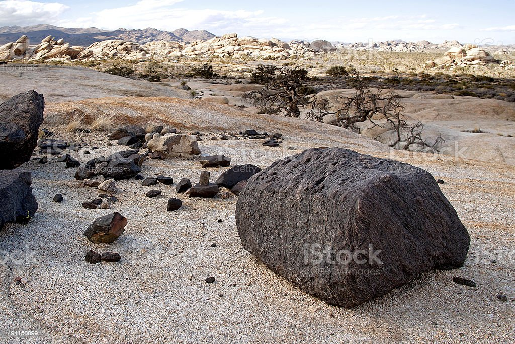 Black Gneiss and monzogranite stock photo